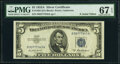 Small Size:Silver Certificates, Fr. 1656 $5 1953A Silver Certificate. PMG Superb Gem Unc 6...