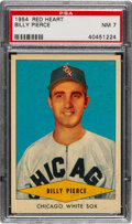 Baseball Cards:Singles (1950-1959), 1954 Red Heart Billy Pierce PSA NM 7. Offered is a...