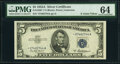 Small Size:Silver Certificates, Fr. 1656* $5 1953A Silver Certificate. PMG Choice Uncircul...