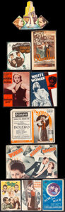 """Movie Posters:Horror, Island of Lost Souls & Other Lot (Paramount, 1933). Fine/Very Fine. Spanish Heralds (19) (from 2.5""""-6"""" X 3.5""""-8"""") & Die-Cut ... (Total: 20 Items)"""