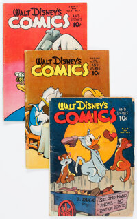 Walt Disney's Comics and Stories Group of 8 Golden (Dell, 1944-47).... (Total: 8 )