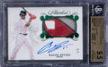 Baseball Cards:Singles (1970-Now), 2018 Panini Flawless Rafael Devers (Rookie Patch Autograph-Emerald) #RPA-RD1 BGS Gem Mint 9.5, Auto 10 - #'d 3/5. ...