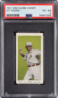 """Baseball Cards:Singles (Pre-1930), 1911 E94 Close Candy """"Old"""" Cy Young (Olive) PSA VG-EX 4."""