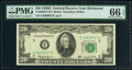 Small Size:Federal Reserve Notes, Fr. 2063-E $20 1950D Federal Reserve Note. PMG Gem Uncirculated 66 EPQ.. ...
