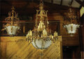 Movie/TV Memorabilia:Memorabilia, Set of (5) Vintage Hanging Light Fixtures and Wall Sconces from the Colfax Theatre of South Bend, Indiana (1928)....