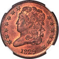 1829 1/2 C C-1, B-1, R.1, MS66 Red and Brown NGC....(PCGS# 35268)
