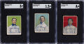 Baseball Cards:Singles (Pre-1930), 1910 D322 Tip Top Bread Pittsburgh Pirates SGC-Graded Trio (3). ... (Total: 3 items)