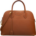 Luxury Accessories:Bags, Hermes Vintage 35cm Gold Epsom Leather Bolide Bag with Gol...