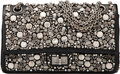 Luxury Accessories:Bags, Chanel Limited Edition Embellished Black Lambskin Leather 2.55 - 225 Reissue Double Flap Bag with Ruthenium Hardware. Cond...