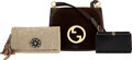 Luxury Accessories:Bags, Gucci and Lanvin Set of Three: Clutches and Shoulder Bag