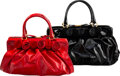 Luxury Accessories:Bags, Valentino Set of Two: Rose Petal Top Handle Bags
