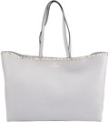 Luxury Accessories:Bags, Valentino Gray Calfskin Leather Rockstud Tote Bag