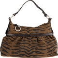 Luxury Accessories:Bags, Fendi Tobacco Tiger Print Fabric Chef Shoulder Bag with Si...