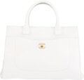 Luxury Accessories:Bags, Chanel White Calfskin Leather Small Neo Executive Shopper ...