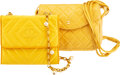 Luxury Accessories:Bags, Chanel Set of Two Yellow Shoulder Bags Condi...