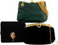 Luxury Accessories:Bags, Judith Leiber Set of Three Evening Bags Cond...