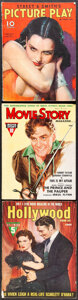 """Movie Posters:Miscellaneous, Hollywood Magazine & Other Lot (Fawcett Publications, 1940). Fine/Very Fine. Magazines (3) (Multiple Pages, Approx. 8.75"""" X ... (Total: 3 Item)"""