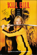 """Movie Posters:Action, Kill Bill (Pyramid Posters, 2004). Rolled, Very Fine. Autographed British Commercial Poster (24"""" X 36""""). Action.. ..."""