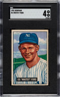 Baseball Cards:Singles (1950-1959), 1951 Bowman Whitey Ford #1 SGC VG-EX 4. Offered is...
