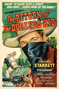"""Movie Posters:Western, The Return of the Durango Kid (Columbia, 1945). Fine+ on Linen. One Sheet (27"""" X 41"""").. ..."""