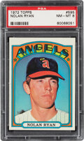 Baseball Cards:Singles (1970-Now), 1972 Topps Nolan Ryan #595 PSA NM-MT 8. Offered is...