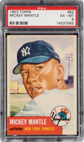 Baseball Cards:Singles (1950-1959), 1953 Topps Mickey Mantle #82 PSA EX-MT 6. One of t...