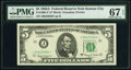 Small Size:Federal Reserve Notes, Fr. 1968-J* $5 1963A Federal Reserve Star Note. PMG Superb Gem Unc 67 EPQ.. ...