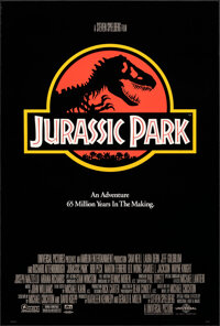 """Jurassic Park (Universal, 1993). Rolled, Very Fine+. One Sheet (26.75"""" X 39.75"""") SS. Chip Kidd and Sandy Collo..."""