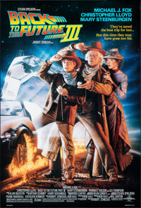 """Back to the Future Part III (Universal, 1990). Rolled, Very Fine+. One Sheet (26.75"""" X 39.75"""") DS, Drew Struza..."""