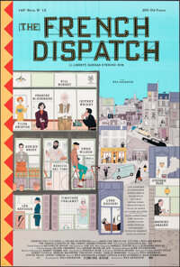 """The French Dispatch (Searchlight Pictures, 2021). Rolled, Very Fine+. One Sheet (27"""" X 40"""") DS Advance, Style..."""