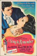"""Movie Posters:Drama, A Song to Remember (Columbia, 1945). Folded, Fine/Very Fine. One Sheet (27"""" X 41""""). Drama.. ..."""