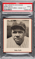 Baseball Cards:Singles (1940-1949), 1947 W602 Sports Exchange Babe Ruth PSA Mint 9 - Pop One, None Higher!...