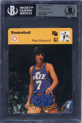 Basketball Cards:Singles (1970-1979), Signed 1977-79 Sportscaster Pete Maravich #124 BAS Authentic...