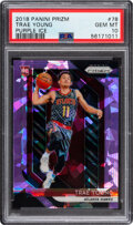 Basketball Cards:Singles (1980-Now), 2018 Panini Prizm Trae Young (Purple Ice) #78 PSA Gem Mint...