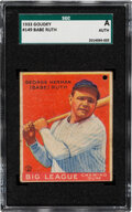 Baseball Cards:Singles (1930-1939), 1933 Goudey Babe Ruth #149 SGC Authentic. ...