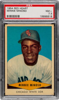 Baseball Cards:Singles (1950-1959), 1954 Red Heart Minnie Minoso PSA NM+ 7.5. Offered ...