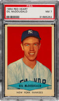 Baseball Cards:Singles (1950-1959), 1954 Red Heart Gil McDougald PSA NM 7. Offered is ...