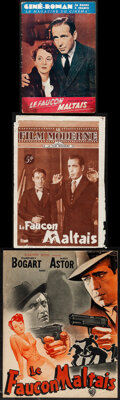 """The Maltese Falcon (Warner Bros., 1946). Overall: Fine+. First Post-War Release French Program (4 Pages, 9.5"""" X 12&..."""