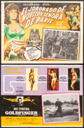 """Movie Posters:James Bond, Goldfinger & Other Lot (United Artists, 1964). Fine+. Mexican Lobby Cards (2) (12"""" X 16"""") & Window Card (14"""" X 22""""). James B... (Total: 3 Items)"""