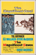 """Movie Posters:Western, The Magnificent Seven (United Artists, 1960). Very Fine on Linen. One Sheet (27"""" X 41.5""""). Western.. ..."""