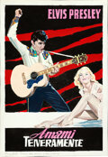 """Movie Posters:Elvis Presley, Loving You by Enzo Nistri (Paramount, 1957). Very Fine/Near Mint. Signed Original Concept Artwork in Gouache on Paper (9.5"""" ..."""