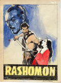"""Movie Posters:Foreign, Rashomon by Giuliano Nistri (1960s). Very Fine/Near Mint. Signed Mixed Media Concept Artwork on Paper (8.5"""" X 11.25"""").. ..."""