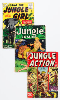 Golden Age Jungle Adventure Comics Group of 4 (Various Publishers, 1949-55) Condition: Average GD.... (Total: 4 )