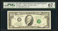 Small Size:Federal Reserve Notes, Fr. 2032-L* $10 1995 Federal Reserve Star Note. PMG Superb...