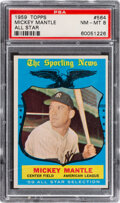 Baseball Cards:Singles (1950-1959), 1959 Topps Mickey Mantle All Star #564 PSA NM-MT 8.