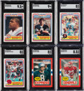 Football Cards:Sets, 1984 & 1985 Topps USFL Football High-Grade Complete Sets (...