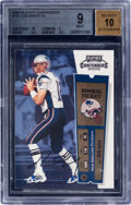 Football Cards:Singles (1970-Now), 2000 Playoff Contenders Tom Brady (Rookie Ticket) #144 BGS Mint 9, Auto 10. ...