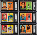 Football Cards:Sets, 1957 Topps Football Near Set (139/154) With Starr SGC NM 7...