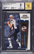 Football Cards:Singles (1970-Now), 2000 Playoff Contenders Tom Brady (Rookie Ticket Autograph) #144 BGS Mint 9 - 10 Auto. ...