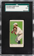 Baseball Cards:Singles (Pre-1930), 1910 E105 Mello-Mint Hal Chase SGC Authentic - Pop One, One Higher! ...